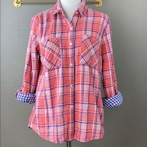 Marc New York flannel double thick button shirt
